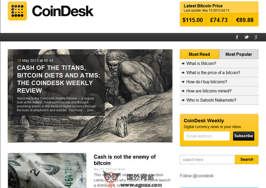 CoinDesk-比特币新闻资源网